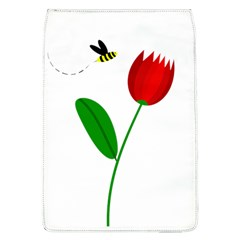 Red Tulip And Bee Flap Covers (l)  by Valentinaart