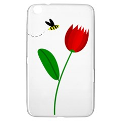 Red Tulip And Bee Samsung Galaxy Tab 3 (8 ) T3100 Hardshell Case  by Valentinaart
