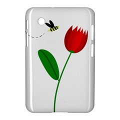 Red Tulip And Bee Samsung Galaxy Tab 2 (7 ) P3100 Hardshell Case  by Valentinaart