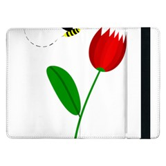 Red Tulip And Bee Samsung Galaxy Tab Pro 12 2  Flip Case by Valentinaart