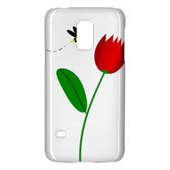Red Tulip And Bee Galaxy S5 Mini by Valentinaart