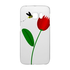 Red Tulip And Bee Galaxy S6 Edge by Valentinaart