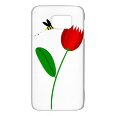 Red Tulip And Bee Galaxy S6 by Valentinaart