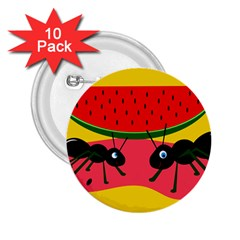 Ants and watermelon  2.25  Buttons (10 pack)