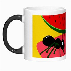Ants And Watermelon  Morph Mugs by Valentinaart