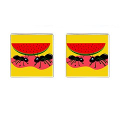 Ants And Watermelon  Cufflinks (square) by Valentinaart