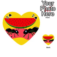 Ants and watermelon  Playing Cards 54 (Heart)