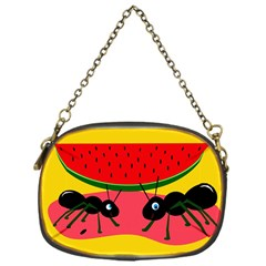 Ants And Watermelon  Chain Purses (one Side)  by Valentinaart