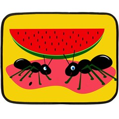 Ants And Watermelon  Double Sided Fleece Blanket (mini)  by Valentinaart