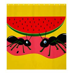 Ants And Watermelon  Shower Curtain 66  X 72  (large)  by Valentinaart