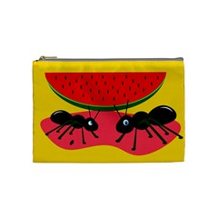 Ants And Watermelon  Cosmetic Bag (medium)  by Valentinaart