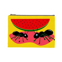 Ants And Watermelon  Cosmetic Bag (large)  by Valentinaart