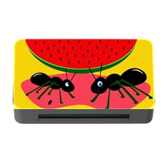 Ants And Watermelon  Memory Card Reader With Cf by Valentinaart