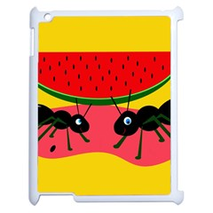 Ants And Watermelon  Apple Ipad 2 Case (white) by Valentinaart