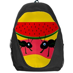 Ants And Watermelon  Backpack Bag by Valentinaart