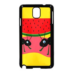 Ants And Watermelon  Samsung Galaxy Note 3 Neo Hardshell Case (black) by Valentinaart
