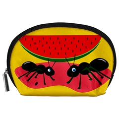 Ants And Watermelon  Accessory Pouches (large)  by Valentinaart