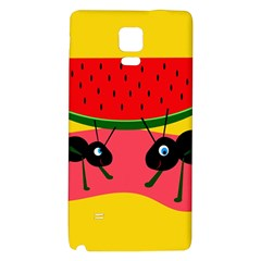 Ants And Watermelon  Galaxy Note 4 Back Case by Valentinaart
