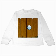 Over The Fence  Kids Long Sleeve T Shirts by Valentinaart