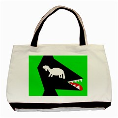 Wolf And Sheep Basic Tote Bag (two Sides) by Valentinaart