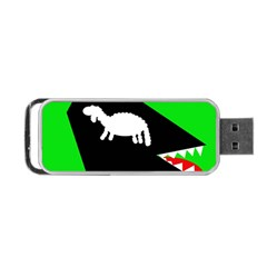 Wolf And Sheep Portable Usb Flash (two Sides) by Valentinaart