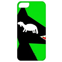 Wolf And Sheep Apple Iphone 5 Classic Hardshell Case by Valentinaart