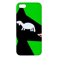 Wolf And Sheep Apple Iphone 5 Premium Hardshell Case by Valentinaart