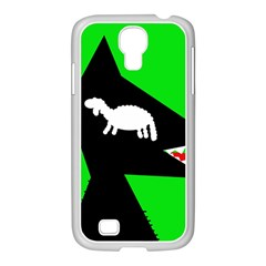Wolf And Sheep Samsung Galaxy S4 I9500/ I9505 Case (white) by Valentinaart