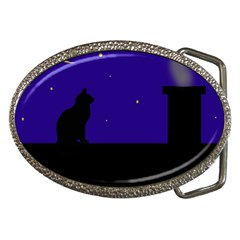 Cat on the roof  Belt Buckles by Valentinaart