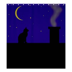 Cat On The Roof  Shower Curtain 66  X 72  (large)  by Valentinaart