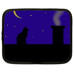 Cat On The Roof  Netbook Case (xl)  by Valentinaart