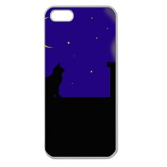 Cat On The Roof  Apple Seamless Iphone 5 Case (clear) by Valentinaart