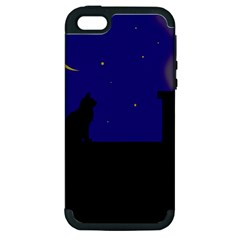 Cat On The Roof  Apple Iphone 5 Hardshell Case (pc+silicone) by Valentinaart