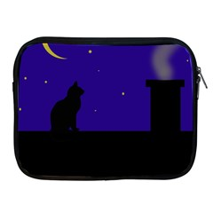 Cat On The Roof  Apple Ipad 2/3/4 Zipper Cases by Valentinaart