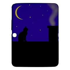 Cat On The Roof  Samsung Galaxy Tab 3 (10 1 ) P5200 Hardshell Case  by Valentinaart