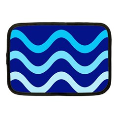 Blue Waves  Netbook Case (medium)  by Valentinaart