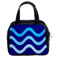 Blue Waves  Classic Handbags (2 Sides) by Valentinaart