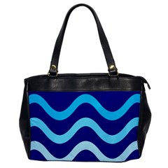 Blue Waves  Office Handbags by Valentinaart