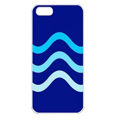 Blue Waves  Apple Iphone 5 Seamless Case (white) by Valentinaart