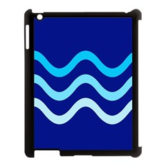 Blue Waves  Apple Ipad 3/4 Case (black) by Valentinaart