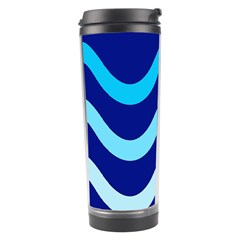 Blue Waves  Travel Tumbler by Valentinaart