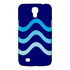 Blue Waves  Samsung Galaxy Mega 6 3  I9200 Hardshell Case by Valentinaart