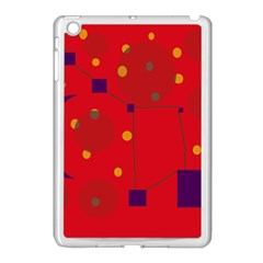 Red Abstract Sky Apple Ipad Mini Case (white) by Valentinaart