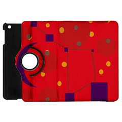 Red Abstract Sky Apple Ipad Mini Flip 360 Case by Valentinaart