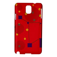 Red Abstract Sky Samsung Galaxy Note 3 N9005 Hardshell Case by Valentinaart