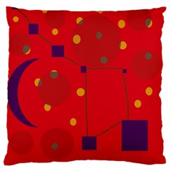 Red abstract sky Standard Flano Cushion Case (One Side) by Valentinaart