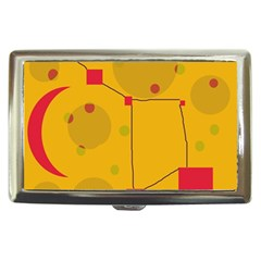 Yellow Abstract Sky Cigarette Money Cases by Valentinaart