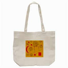 Yellow Abstract Sky Tote Bag (cream) by Valentinaart