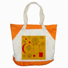 Yellow Abstract Sky Accent Tote Bag by Valentinaart