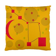 Yellow Abstract Sky Standard Cushion Case (two Sides) by Valentinaart